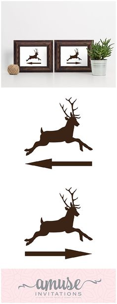 Direction signs have never been cuter. For a woodland wedding, deer themed party or even directions for a hunting lodge, these buck right and left arrow signs are available for INSTANT DOWNLOAD. Pin to save for later or click to order! Hunting Wedding, Deer Wedding, Cabin Wedding, Rustic Wedding Signs, Woodland Wedding, Direction Signs, Whimsical Wedding Invitations, Left Arrow, Barn Wedding Inspiration
