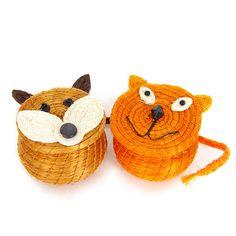 Fab.com | Fox And Cat Basket Set