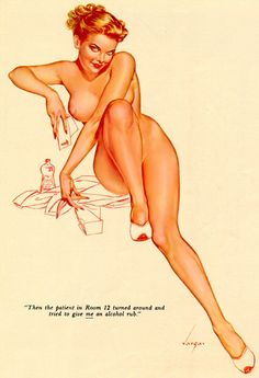 Alberto Vargas pin-up painting