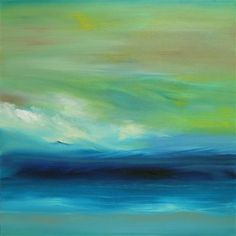 OceanScape ... Ecofriendly Oil Painting inspired by my peaceful walks on the beach in San Clemente, California.