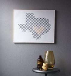 DIY Giant Cross Stitch Wall Art