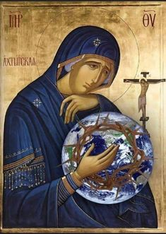 Blessed Mother Mary, Blessed Virgin Mary, Religious Pictures, Religious Art, Paint Icon, Images Of Mary, Jesus Christ Images, Mary And Jesus, Byzantine Icons