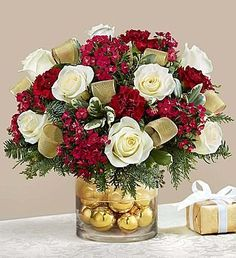 Glorious Christmas 1800flowers Com 99076 Christmas Flower Arrangements Christmas Flowers