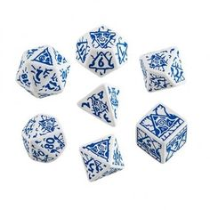 Pathfinder Reign of Winter Dice Set - $12.99 - The perfect dice for use in the cold season!