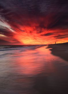 ~~Explosions ~ sunset beachscape, Robert Moses State Park, Long Island, New York by MDanielson Photo~~