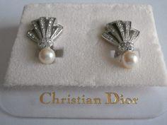 Christian Dior Clip Earrings set with Swarovski Crystal by Dior4U, $85.00