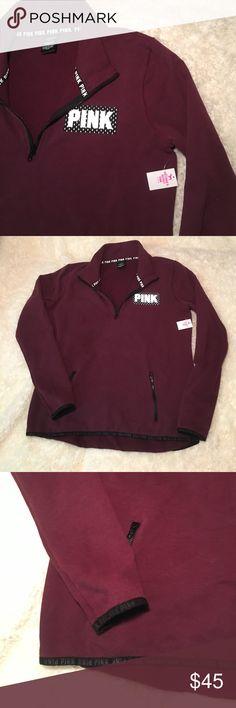 Pink crew Pink crew maroon PINK Victoria's Secret Sweaters Crew & Scoop Necks