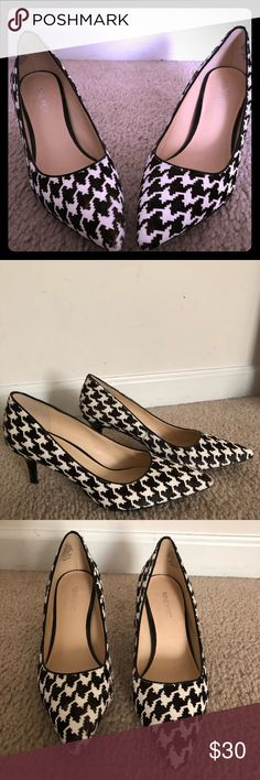 Nine West Houndstooth Pumps (Margot) Nine West's classic, comfortable pump with a houndstooth pattern.  Worn twice! Nine West Shoes Heels