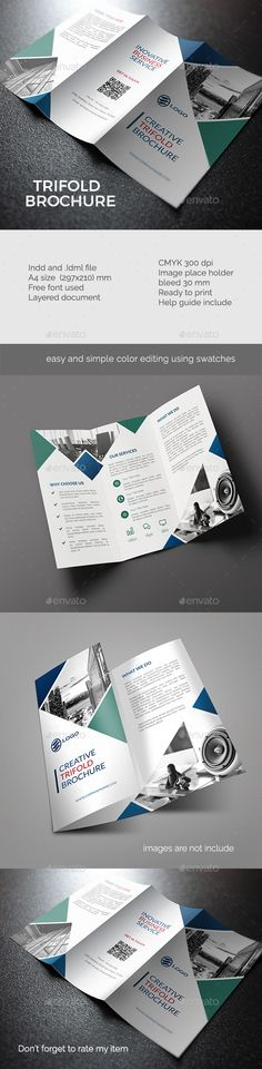 Trifold Brochure Template InDesign INDD. Download here: http://graphicriver.net/item/trifold-brochure-vol-3/15905237?ref=ksioks