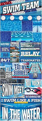 Reminisce SWIMMING GRAPHIC Cardstock Stickers scrapbooking POOL RELAY