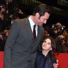 Hugh Jackman and young co-star Dafne Keen walk the red carpet for Logan at Berlinale