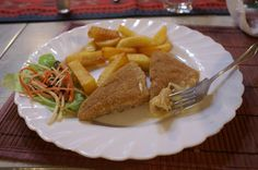 My vegetarian meal at La Dobrun in Sibiu, Romania