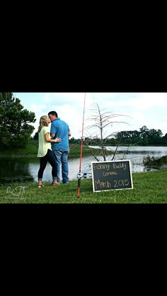 Fishing pregnancy announcement