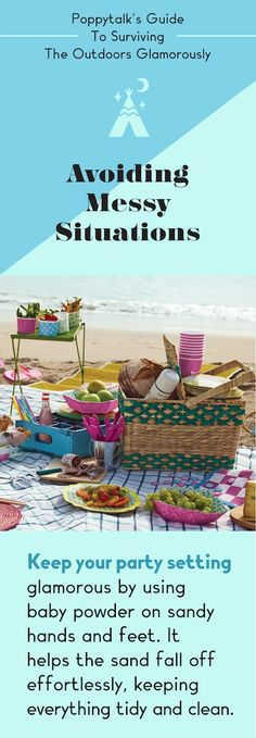 Guide to Surviving The Outdoors Glamorously: Avoiding Messy Situations Homemade Cleaning Products, Natural Cleaning Products, Animal Party, Party Animals, Travel Trailer Living, Outdoor Retreat, Picnic Time, Outdoor Parties, Party Entertainment