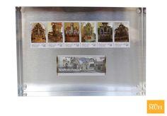 Portarretratos con timbres de órganos históricos y Oaxaca patrimonio mundial. $711.00