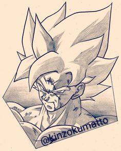 "1,469 Me gusta, 12 comentarios - きんぞくマット (@kinzokumatto) en Instagram: ""An update of my portrait of SSJ Goku on Namek was needed #sketch #ドラゴンボール #ドラゴンボールz…"""