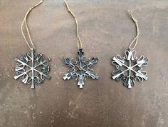 Equestrian Snowflake Ornament made from Authentic Horseshoe