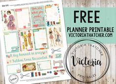 Free Planner Printable. Victoria Thtacher