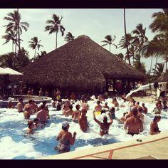 Ibiza-Style Foam Party at Dreams Punta Cana.
