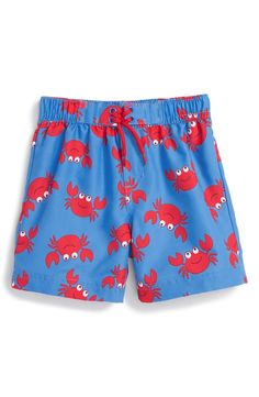 Little Me 'Crab' UPF 50+ Swim Trunks (Baby Boys) size 6-9 months