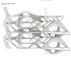 Yong Jae Kim, Quarter Section 2 Section Drawing Architecture, Architecture Concept Diagram, Architecture Student, Architecture Plan, Temporary Architecture, Toyo Ito, Parametric Design, Architectural Section, Organic Architecture