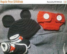 ON SALE Crochet Mickey Mouse photo Prop Baby Boy by Crochet4me56