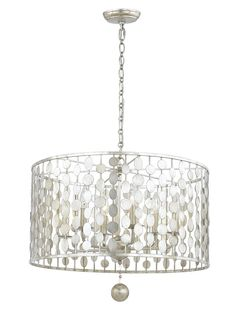 PLC Lighting 16 Light 10W Satin Nickel Dimmable Chandeliers Light Clear Glass Ribbon Collection