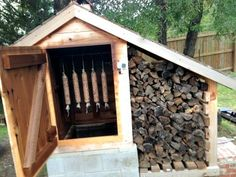 How to Make a DIY Cedar Smokehouse      http://diyhomesweethome.com/how-to-make-a-diy-cedar-smokehouse/