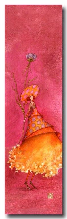 pink and orange - my favorite! Gaelle Boissonnard Marque-page Art Fantaisiste, Art Carte, Art Et Illustration, 3d Prints, Art Moderne, Whimsical Art, Love Art, Mixed Media Art, Fairies