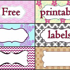 Free labels for Storage Boxes PRINT THESE!!