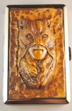 Golden Brown Indian Brave in Wolf Mask by TheTwistedCrafts on Etsy, $22.00