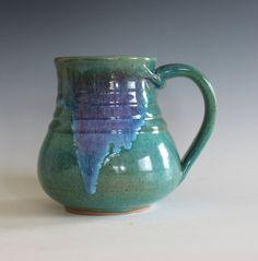 LARGE Coffee Mug Pottery 20 oz unique coffee mug by ocpottery