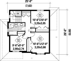 Narrow Lot Country Home Plan - 80246PM | Architectural Designs - House Plans