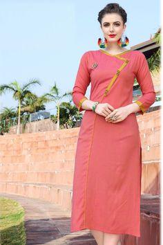 Peach-Exclusive-Occasional-Fancy-Outfit-Long-Length-Plain-Rayon-Printed-Kurti-4001-7272 #wholesalekurtis #wholesalekurtissupplier #kurtisdealers #kurtiexporters #kurtimanufacturer #kurtistockist #stylish #festivalwear #eventwear #dailywear #surattextilemarket #bulksupplier #kurtidistributor #lkfabkart
