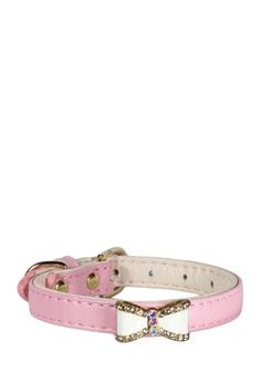 Pink Bow Collar