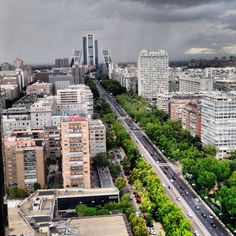 Paseo de la Castellana,Madrid, España