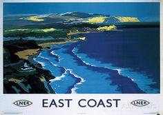 East Coast England Vintage Style Travel Poster Masterdruck