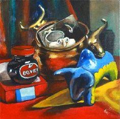 Francisca Louw - Still life   Oil on canvas 2008