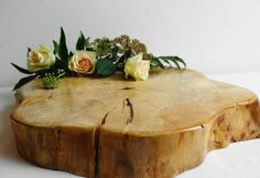 Wood Slab, Large Wood Slice, Tree Trunk, Stump, Wood Centerpiece, Rustic Centerpiece, Rustic Decor  $76.59