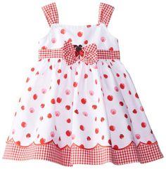 Blueberi Boulevard Baby Girls' Ladybug Sundress, Red/White, 12 Months