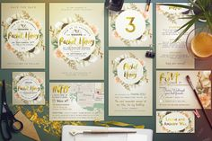 Wedding Suite IV for Bestseller Card by The Wedding Shop on @creativemarket