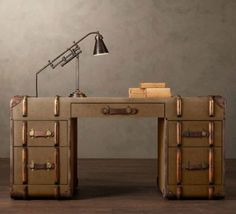 I want this desk. what is my fascination with suitcases!
