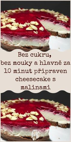 Baking Recipes, Dessert Recipes, Desserts, Czech Recipes, Ethnic Recipes, Cheesecake, Food And Drink, Low Carb, Gluten Free