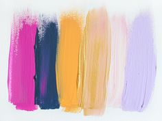 Colors 66 - an original painting by Jen Ramos at Cocoa & Hearts (pinning for color palette)