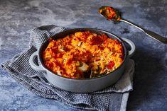 We trappen de herfst af met een heerlijke ovenschotel met zoete aardappel en geitenkaas - Recept - Allerhande
