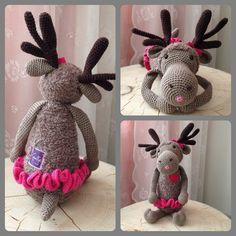 Rendier Rudolf gehaakt door Claudia Scheuneman