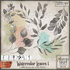 CU ~ Watercolor Leaves 1