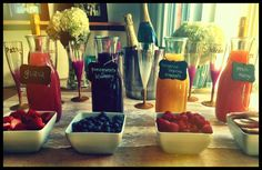 Mimosa bar :) ...... This is a must have at some point in my wedding weekend!!