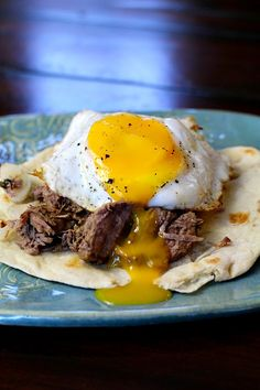 Beef Machaca is slow braised pot roast in Mexican spices and then shredded for authentic Mexican shredded beef tacos, burritos and enchiladas. Just add some to a warm flour tortilla and top with a fried egg for an easy Mexican Huevos breakfast recipe. Mexican Breakfast Recipes, Mexican Food Recipes, Beef Recipes, Cooking Recipes, Breakfast Ideas, Shredded Beef Tacos, Mexican Shredded Beef, Authentic Mexican Recipes, Barbacoa