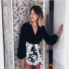Caroline Receveur ombré with long bangs Good Hair Day, Great Hair, Caroline Receveur Hair, Floral Shorts, Floral Tops, Cotton Candy Hair, Mode Ootd, Multicolored Hair, Summer Makeup Looks